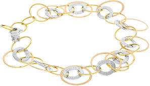"Alfieri & St.John""Damiani"" 18K Three-Tone Gold Round Links Women's  Bracelet: Amazon.co.uk: Jewellery"