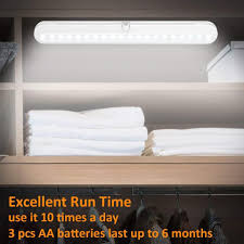 Under Cabinet Super Bright Led Light Fixture T01l Led Closet Light Bls Super Bright 20 Led Under