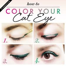 how to update your makeup for summer colorful cat eye liner