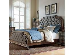 Liberty Furniture Tuscan Valley King Upholstered Bed Royal