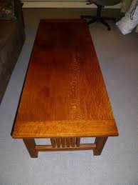 Clean design and sturdy construction of the mission styling make this table a comfortable addition to any decor. Adam S Mission Style Coffee Table The Wood Whisperer