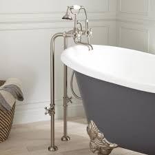 floor mount tub filler. Freestanding Telephone Tub Faucet, Supplies \u0026 Valves - Cross Handles Floor Mount Filler