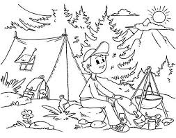 Small Picture Camping coloring pages in mountain ColoringStar