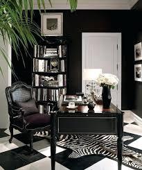 black home office desk black decorating office ideas zebra print rug home decor black l shaped home office desk