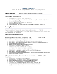 Cna Resume No Experience Template Sample For 1 Examples With Wudui Me