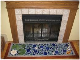 Decorative Hearth Tiles fireplace ceramic tile lily pond hearth lily pond hearth tiles 10