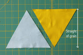Quilting with Triangles, Part 2: Piecing   WeAllSew & But first, let's talk about how your cut triangles have one edge that is on  the straight-of-grain. See how the threads of the fabric are running ... Adamdwight.com