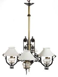 later black and silver paint brass shaft and hardware ceiling mount each font cup with patent date pat jan 31 1871 aug 31 1875 central arm support with