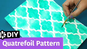 pattern idea diy quatrefoil pattern easy notebook cover idea sea lemon youtube
