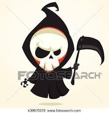 vector cartoon grim reaper clip art