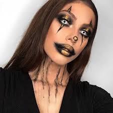 creepy clown makeup idea for