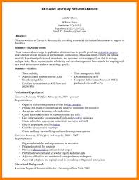 Executive Assistant Resume Executive Secretary Resume Sample Free Assistant Pdf Samples 93