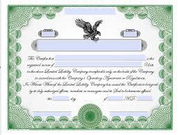 Certificates Printable Printable Llc Share Certificates
