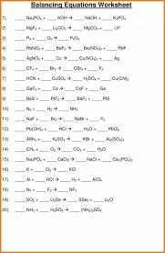 lovely balancing equations worksheet art resume skills chemical part 2 answe chemical equations worksheet worksheet um
