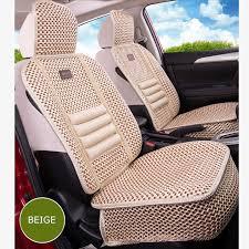 <b>KKYSYELVA</b> Flax <b>Car</b> Seat Cover Pad for most <b>cars Universal</b> Front ...