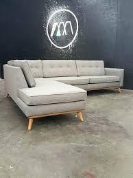 mid century modern sectional sofa custom built to order mid century modern sectional chaise chaise can mid century modern sectional sofa