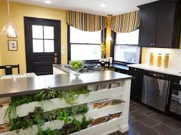Tuck It in a Shelf. Contemporary Kitchen with Indoor Herb Planter