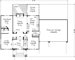 The Simpson   Bedrooms and Baths   The House DesignersMain Floor Plan