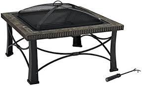 crosley furniture firestone square outdoor slate fire pit black black fire pit64