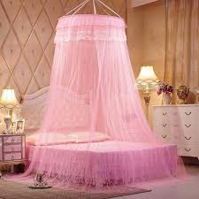 princess bed canopy pink insect mosquito door window mesh screen queen size net for double