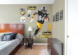 steelers wall decals brown life size officially licensed removable wall decal