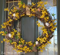 spring wreath for front doorMake a Wreath for Spring lots of ideas  Its Overflowing