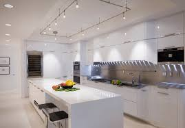 image of simple track lighting for kitchen