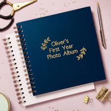 Personalised My First Year Photo Album By Posh Totty Designs