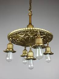 antique brass shower bare bulb light fixture 5