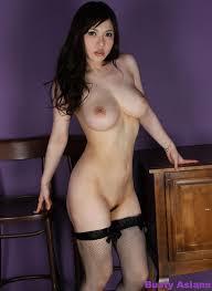 Busty Brunette Anri Okita Striptease Her Black Bikini and Flashes.
