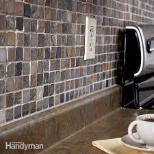 How To Tile A DIY Backsplash Family Handyman The Family Handyman Inspiration How To Install Backsplash Tile Sheets Painting
