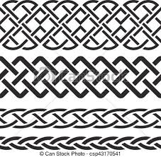 Celtic Pattern Custom Set Of Celtic Pattern Borders Vector Illustration