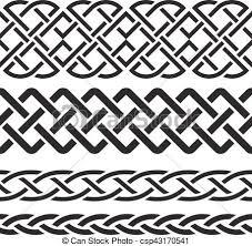 Celtic Pattern Custom Set Of Celtic Pattern Borders Vector Illustration