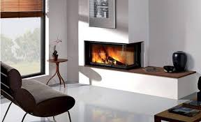 grab rectangle two sided corner fireplace design picture