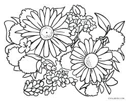 Flowers Coloring Sheets Easy Flower Coloring Sheets Free Printable