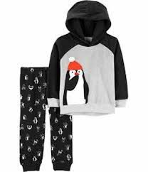 4t Size Chart Carters New Carters 2 Piece Boys Outfit Set Penguin Hooded Top