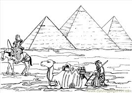 Small Picture Egyptian Pyramids Coloring Page Free Egypt Coloring Pages