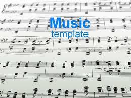 Music Powerpoint Template Sheet Music Template