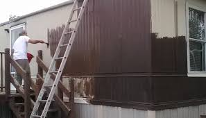 how to paint metal siding on a mobile home day 2