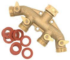 Botrong <b>Garden</b> Hose Splitter Heavy-Duty 2 Way Solid <b>Brass</b> Y ...