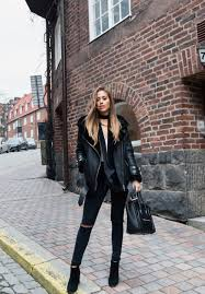 whoever said you couldn t combine the shearling all black trend kenza zouiten