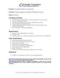 Associate Merchandiser Cover Letter Visual Merchandiser Cover