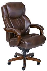la z boy delano big tall executive bonded leather office chair chestnut brown