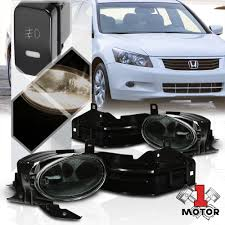 2008 Honda Accord Coupe Fog Light Kit Details About Smoke Tinted Fog Light Bumper Lamp W Switch Harness For 08 10 Honda Accord Coupe