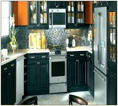 painted kitchen cabinets with black appliances. Paint Kitchen Appliances Black Painted Cabinets With P