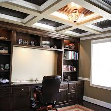 luxury home home office custom built wall unit desk book