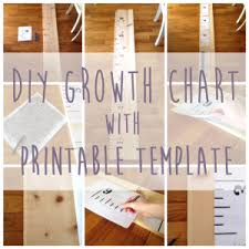 Diy Ruler Growth Chart Tutorial With Printable Fink