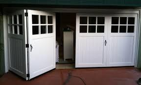 wood bi fold garage doors