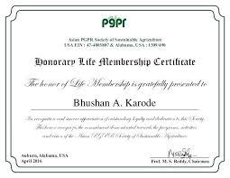 Free Honorary Certificate Templates Member Membership
