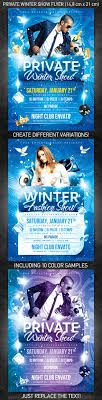 best posters and flyers templates of new year design private winter show flyer